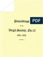 Proceedings of the Virgil Society 12 - 1972-73