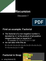 recursion  discussion 7