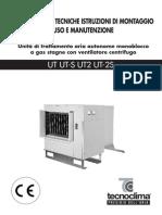 Generatoare Aer Cald Tecnoclima Seria Ut - Informatii Tehnice