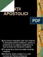 PĂRINŢII APOSTOLICI