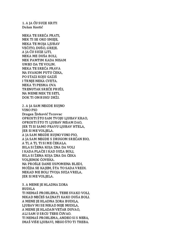 Tekst mjesecar pjesme cetinski lyrics toni Toni Cetinski