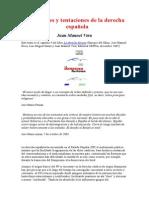 Vera Juan Manuel -´Tradiciones y tentaciones de la derecha española