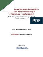 La Recomendación de Seguir La Sunnah, La Prevención de La Innovación y La Evidencia de Su Peligrosidad