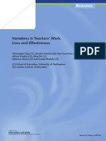 Variations in Teachers' Work, Lives and Effectiveness