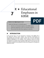 Topic 7 Educational Emphases in KBSR