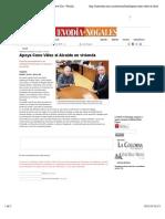 14-11-14 Apoya Cano Vélez al Alcalde en vivienda   Nuevo Dia - Periodico de Nogales