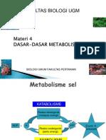 Biologi Umum 4 - Pertanian UGM - Dasar-dasar Metabolisme- Respirasi