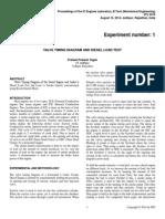 Valve Timing Diagram and Smoke Intensity Plot