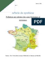 Pollution aux nitrates des eaux bretonnes et isèriennes