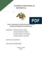 Especificación Formal secuencial