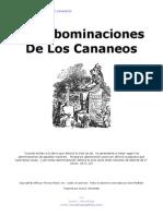 Las Abominaciones de Los Cananeos