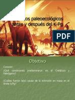 Paleoecologia Antes y Después Límite K-Pg
