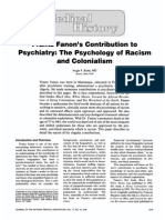 Frantz Fanon's Contribution to Psychiatry the Psychology of Racism and Colonialism