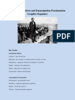 gettysburg address and emancipation proclamation graphic organizer