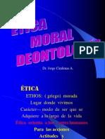 Etica Moral Deontologia- Relaciones Humanas