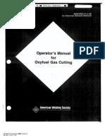 AWS C4.2 - 90 Operator's Manual for Oxyfuel Gas Cutting