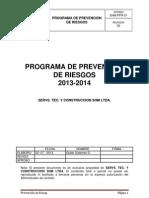 Plan o Programa de Prevencion de Riesgo