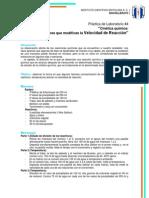 Práctica de Laboratorio 4 Quimica III