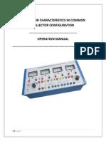 (Cc)Transistor Characteristics in Common Collector Configuration