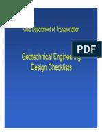Geotech Design Checklist