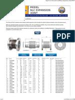 Flexicraft Model NLC Metal Expansion Joints
