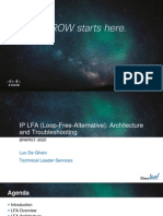 Cisco Live IP LFA Architecture and Troubleshooting