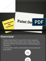Identifying and Correcting Paint Defects