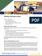 Ctl Writing a Liadasdasdasterature Review
