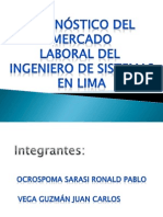 Diagnostico del mercado laboral de ingenieros en lima