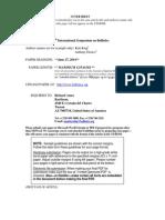 Ballistics 2014 Guidelines