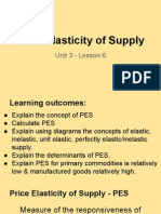unit 3 - lesson 6 price elasticity of supply