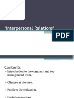 Interpersonal Relations'