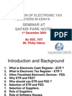 Electronic Tax Registers