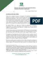 MEDINA OTAZU, AUGUSTO. Marco Conceptual Del Delito de Función Del Control Politico Peruano