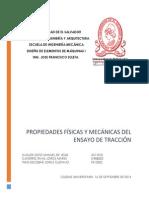 Propiedades Fisicas y Mecanicas Del Ensayo de Traccion