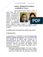 Reconstructive Surgical Procedures Available in Texas