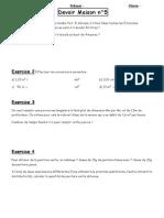 DM5 - Proportionnalité - Volumes - Distributivité