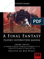D20 Final Fantasy - Player's Instruction Manual