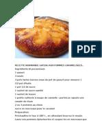 Recette Normande Gateau Aux Pommes Caramelisees..
