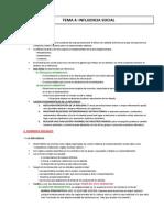 Psicología social. Resumen Tema 4 Influencia Social Psicologia Social y de Los Grupos. Ugr.