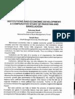 Institution and Economic Development