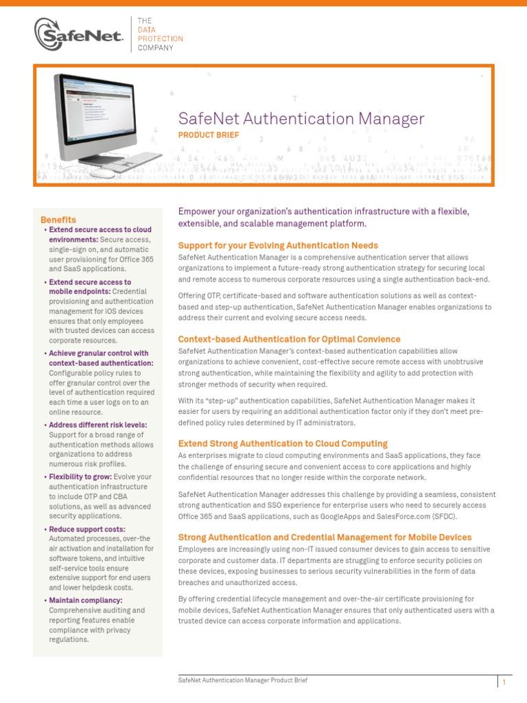 SafeNet Authentication Manager PB (en) v13 Jan312013 Web