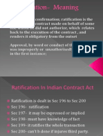What is Ratification