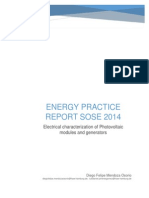 Electrical Charatcerization of PV Modules and Generators Report Mendoza Pineres