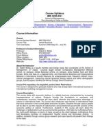UT Dallas Syllabus for ims5200.0g1.08u taught by Habte Woldu (wolduh)