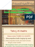 tahrij Hadist