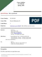 UT Dallas Syllabus for cs3305.501.08s taught by Timothy Farage (tfarage)