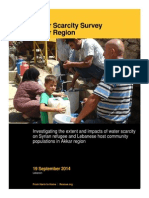 IRC Akkar Water Scarcity Survey