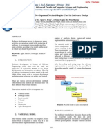 Review of Software Development Methodologies Used in Software Design