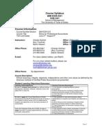 UT Dallas Syllabus for aim6335.5u1.08u taught by Charles Solcher (solcher)
